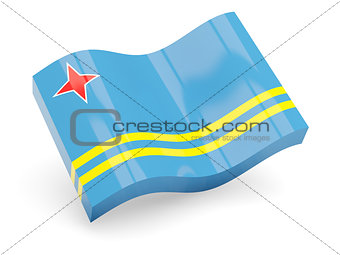 3d flag of Aruba