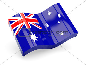 3d flag of Australia