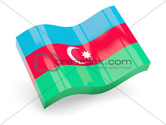 3d flag of Azerbaijan