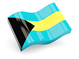 3d flag of Bahamas