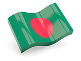 3d flag of Bangladesh