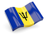 3d flag of Barbados