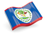 3d flag of Belize