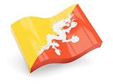 3d flag of Bhutan