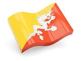 3d flag of Bhutan