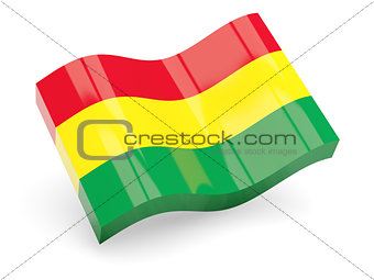 3d flag of Bolivia