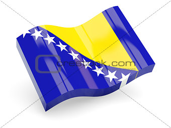 3d flag of Bosnia and Herzegovina