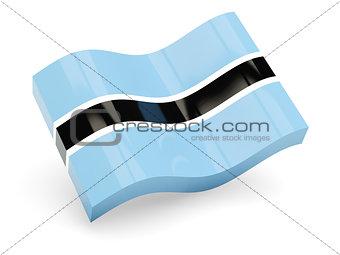 3d flag of Botswana