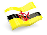 3d flag of Brunei