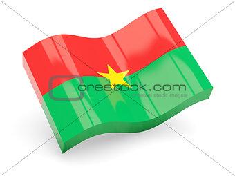 3d flag of Burkina Faso