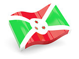 3d flag of Burundi
