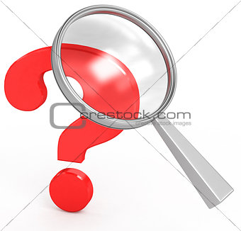 classic loop and a question mark on a white background