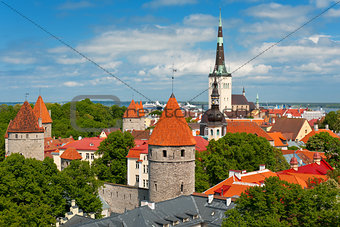 Old City of Tallin in summer