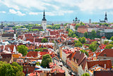Panoramic view on the Old City of Tallin