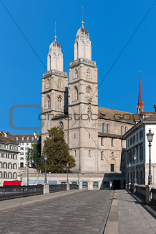 View on Grossmuenster in Zurich