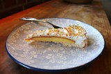 Fresh baked lemon meringue pie