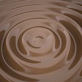 Waves on the surface of the chocolate