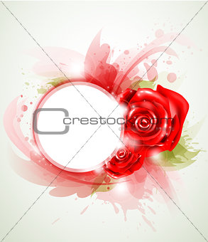 Red abstract rose