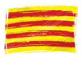 Grunge Catalonia flag