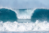 ocean waves breaking at bondi beach australia