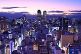 Downtown Nagoya Cityscape