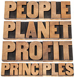 people, planet, profit, principles