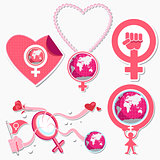 International Woman Day Symbol and Icon