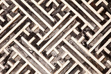 Korean Geometric Pattern In Wood