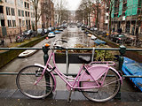 Bicycle With Amsterdam Canal