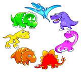 Dinosaurs rainbow.