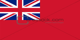 Flag of the United Kingdom (Red Ensign).