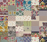 collection of quilt backgrounds - grey