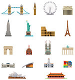 Vector landmark icon set