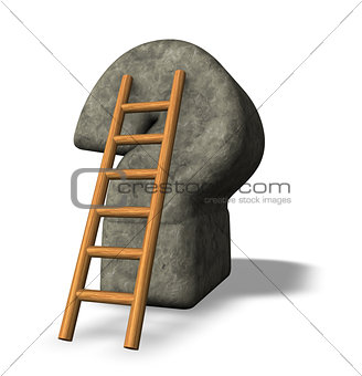 ladder and question mark