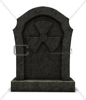 radioactive gravestone