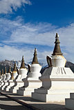 White pagodas Tibet