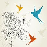 Birds a flower2