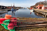 Stauning harbor in the western part of Denmark