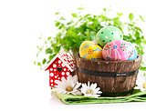 Easter eggs in the pot