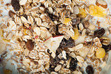 Muesli breakfast in a bowl