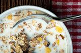 Muesli breakfast in a bowl