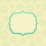 Light Yellow Vintage Card with Green Decor