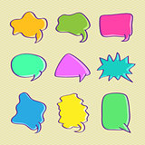 Hand Drawn Bubble Chat Set