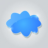 Blue Glossy Cloud Icon