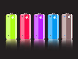 Vector Set of Colorful Full Batteries