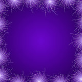 Purple Star Firework Frame