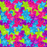 Seamless Floral Pattern in Acid Colors