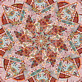 Ornamental Colorful Carpet Background