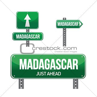madagascar Country road sign