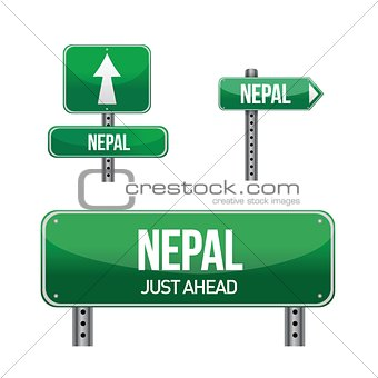 nepal Country road sign